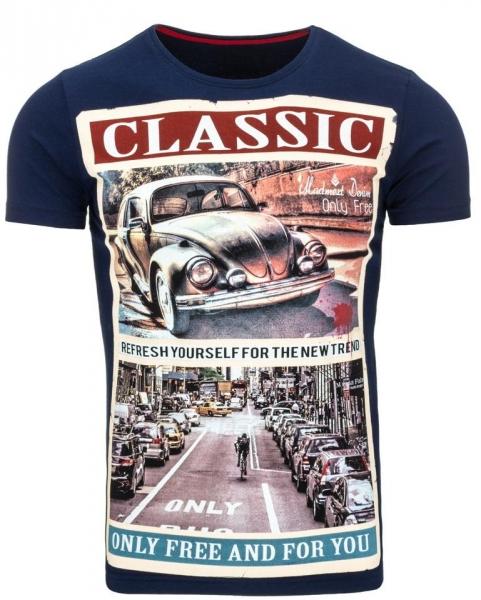 Vyriški marškinėliai Classic (Mėlyni) Paveikslėlis 1 iš 5 310820031080