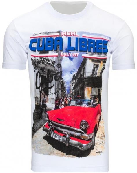 Vyriški marškinėliai CUBALIBRES (Balti) Paveikslėlis 1 iš 5 310820031115