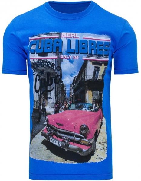 Vyriški marškinėliai CUBALIBRES (Mėlyni) Paveikslėlis 1 iš 5 310820031116