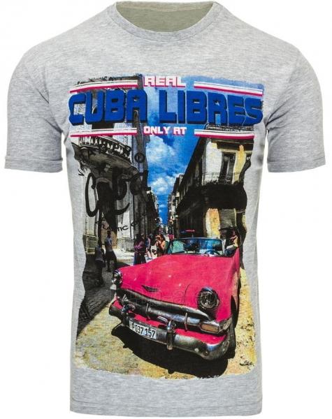 Vyriški marškinėliai CUBALIBRES (Pilki) Paveikslėlis 1 iš 5 310820031113