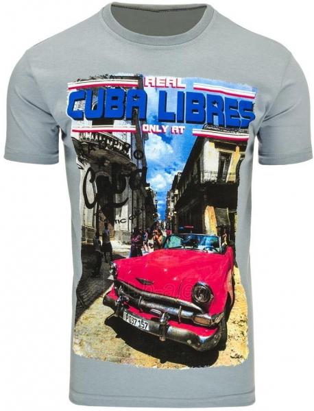 Vyriški marškinėliai CUBALIBRES (Tamsiai Pilki) Paveikslėlis 1 iš 5 310820031112