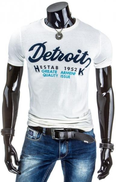 Vyriški marškinėliai DETROITS (Balti) Paveikslėlis 1 iš 4 310820034841