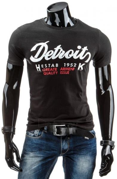 Vyriški marškinėliai DETROITS (Juodi) Paveikslėlis 1 iš 4 310820034839