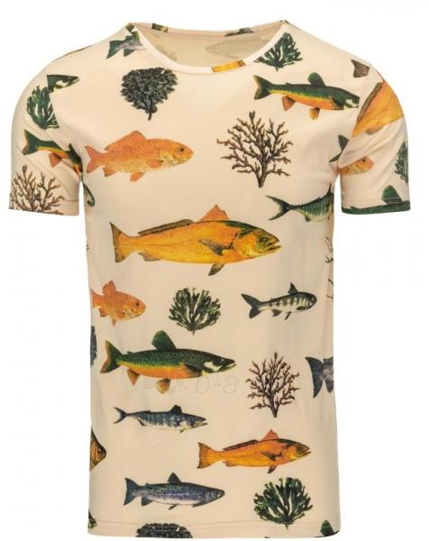 Vyriški marškinėliai Fish (Rusvi) Paveikslėlis 1 iš 5 310820031218