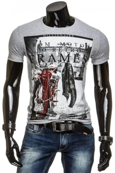 Vyriški marškinėliai Frames (Pilki) Paveikslėlis 1 iš 4 310820034847