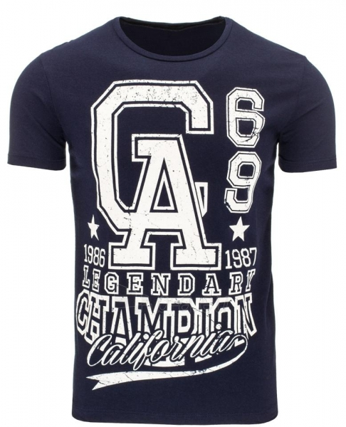 Vyriški marškinėliai GA (Tamsiai mėlyni) Paveikslėlis 1 iš 5 310820031190