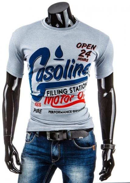 Vyriški marškinėliai Gasoline (Pilki) Paveikslėlis 1 iš 4 310820031232