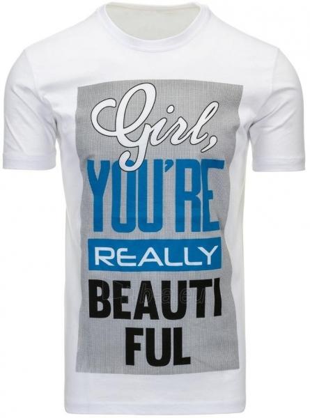 Vyriški marškinėliai Girl (Balti) Paveikslėlis 1 iš 5 310820031125
