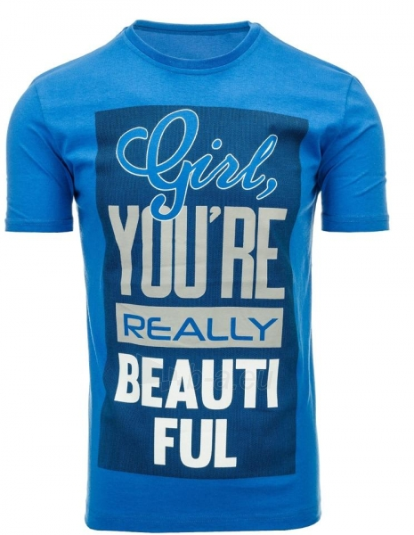 Vyriški marškinėliai Girl (Mėlyni) Paveikslėlis 1 iš 5 310820031127