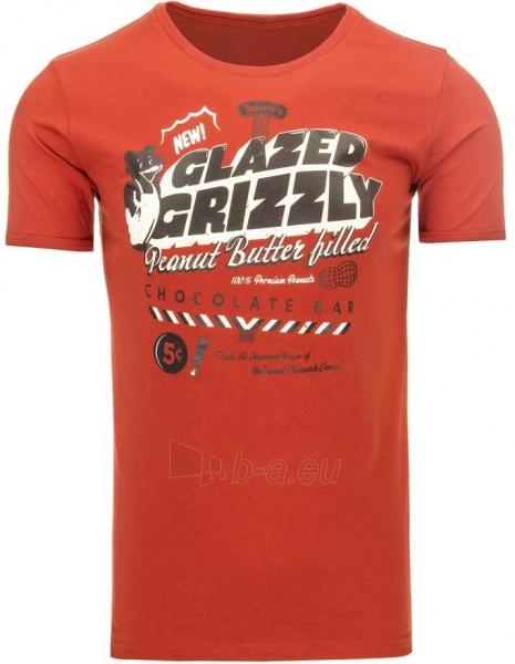 Vyriški marškinėliai GLAZEDGRIZZLY (Raudoni) Paveikslėlis 1 iš 5 310820031102
