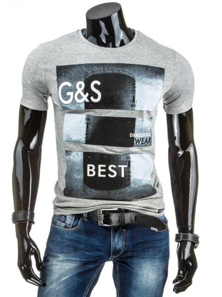 Vyriški marškinėliai GS (Pilki) Paveikslėlis 1 iš 4 310820034851