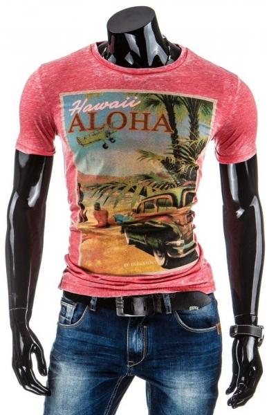 Vyriški marškinėliai HAWAII (Rožiniai) Paveikslėlis 1 iš 5 310820031229