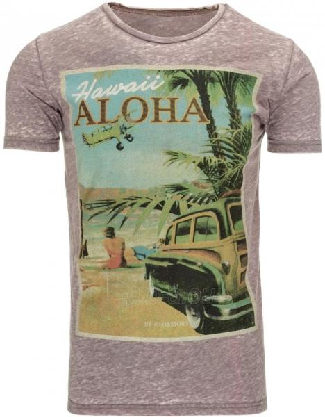 Vyriški marškinėliai HAWAII (Rožinis) Paveikslėlis 1 iš 5 310820032226
