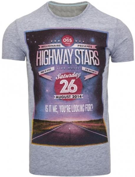 Vyriški marškinėliai HIGHWAYSATRS (Pilki) Paveikslėlis 1 iš 5 310820031087