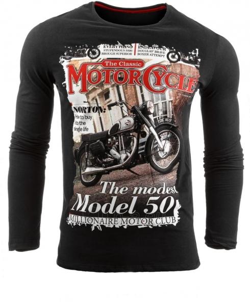 Vyriški marškinėliai ilgomis rankovėmis Deadwood (Juodi) Paveikslėlis 1 iš 1 310820031831