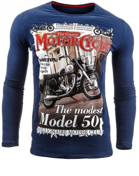 Vyriški marškinėliai ilgomis rankovėmis Deadwood (Tamsiai mėlyni) Paveikslėlis 1 iš 1 310820031832
