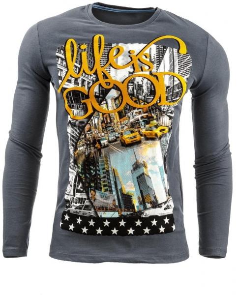 Vyriški marškinėliai ilgomis rankovėmis Decatur (Grafitinė) Paveikslėlis 1 iš 1 310820031829