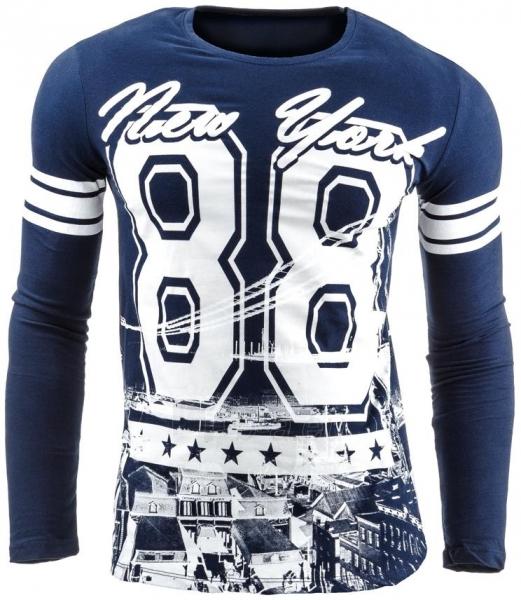 Vyriški marškinėliai ilgomis rankovėmis Deer (Tamsiai mėlyni) Paveikslėlis 1 iš 2 310820037007