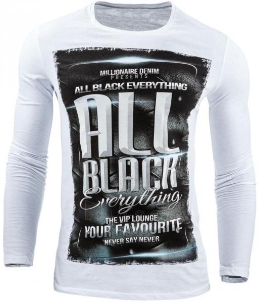 Vyriški marškinėliai ilgomis rankovėmis DeKalb (Balti) Paveikslėlis 1 iš 1 310820031824