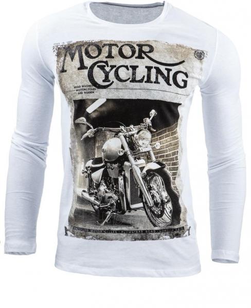Vyriški marškinėliai ilgomis rankovėmis Dell (Balti) Paveikslėlis 1 iš 1 310820031816