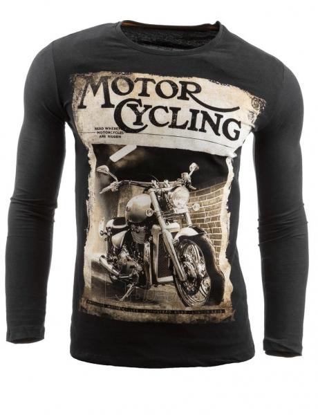Vyriški marškinėliai ilgomis rankovėmis Dell (Juodi) Paveikslėlis 1 iš 1 310820031817