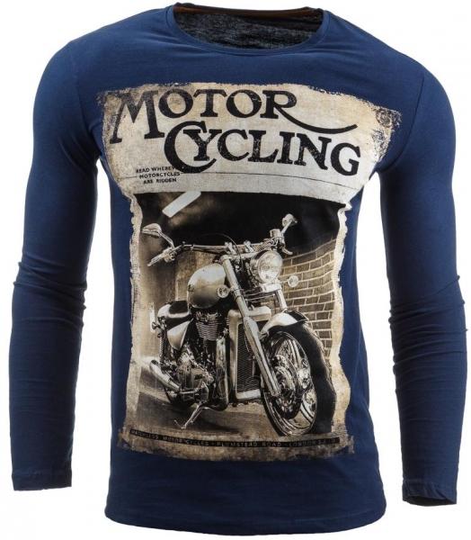 Vyriški marškinėliai ilgomis rankovėmis Dell (Tamsiai mėlyni) Paveikslėlis 1 iš 1 310820031818