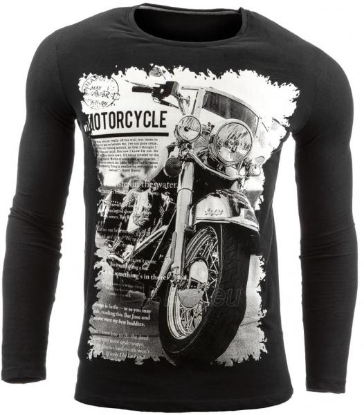 Vyriški marškinėliai ilgomis rankovėmis DeSoto (Juodi) Paveikslėlis 1 iš 1 310820031815