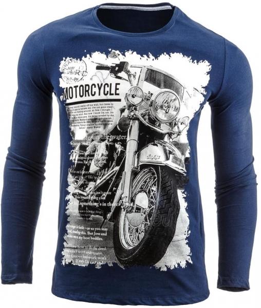 Vyriški marškinėliai ilgomis rankovėmis DeSoto (Tamsiai mėlyni) Paveikslėlis 1 iš 1 310820031813