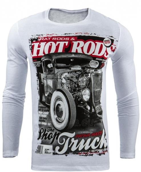 Vyriški marškinėliai ilgomis rankovėmis Devers (Balti) Paveikslėlis 1 iš 1 310820031810