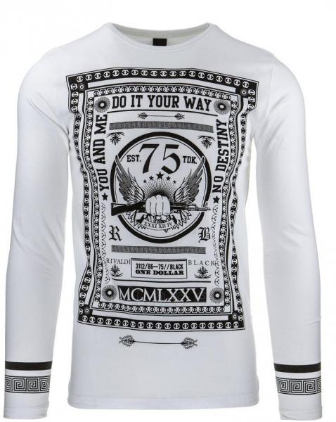 Vyriški marškinėliai ilgomis rankovėmis Flore (Balti) Paveikslėlis 1 iš 2 310820032342