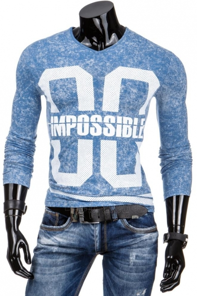 Vyriški marškinėliai ilgomis rankovėmis Impossible (Mėlyni) Paveikslėlis 1 iš 6 310820031472