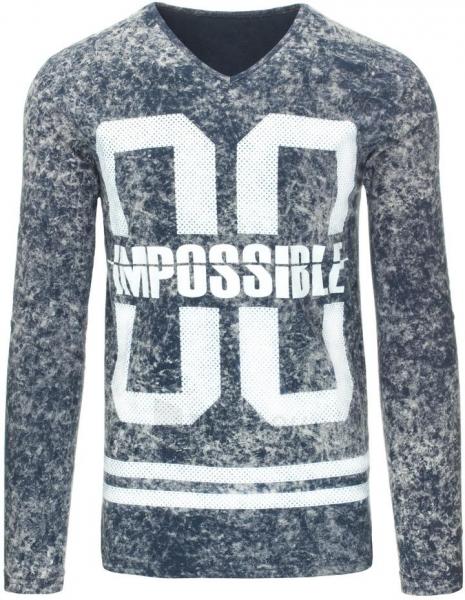 Vyriški marškinėliai ilgomis rankovėmis Impossible (Pilki) Paveikslėlis 1 iš 7 310820031471