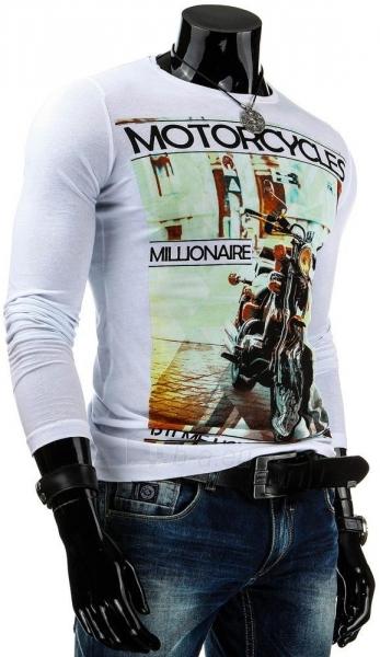 Vyriški marškinėliai ilgomis rankovėmis Motorcycles (Balti) Paveikslėlis 1 iš 4 310820036873