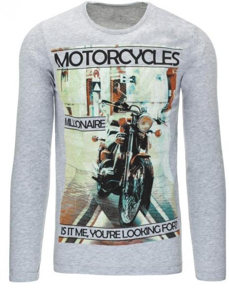 Vyriški marškinėliai ilgomis rankovėmis Motorcycles (Pilki) Paveikslėlis 1 iš 5 310820031345