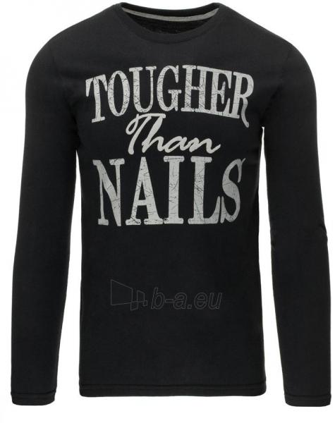 Vyriški marškinėliai ilgomis rankovėmis Nails (Juodi) Paveikslėlis 1 iš 5 310820031422