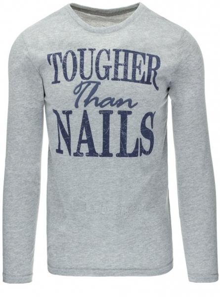 Vyriški marškinėliai ilgomis rankovėmis Nails (Pilki) Paveikslėlis 1 iš 5 310820031421