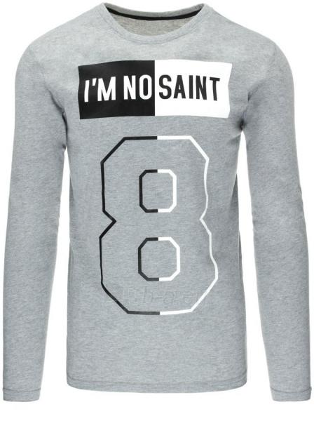 Vyriški marškinėliai ilgomis rankovėmis No8 (Pilki) Paveikslėlis 1 iš 5 310820031429