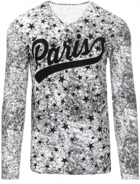 Vyriški marškinėliai ilgomis rankovėmis Paris (Balti) Paveikslėlis 1 iš 7 310820031461