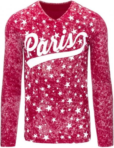 Vyriški marškinėliai ilgomis rankovėmis Paris (Raudoni) Paveikslėlis 1 iš 7 310820031463