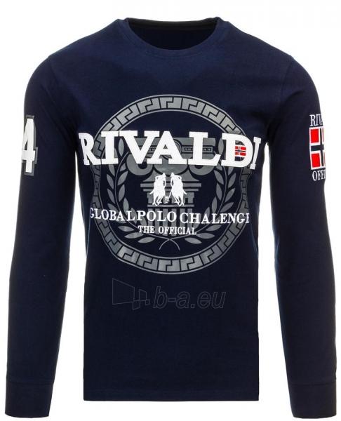 Vyriški marškinėliai ilgomis rankovėmis Rivaldi (Tamsiai mėlyni) Paveikslėlis 1 iš 2 310820032831