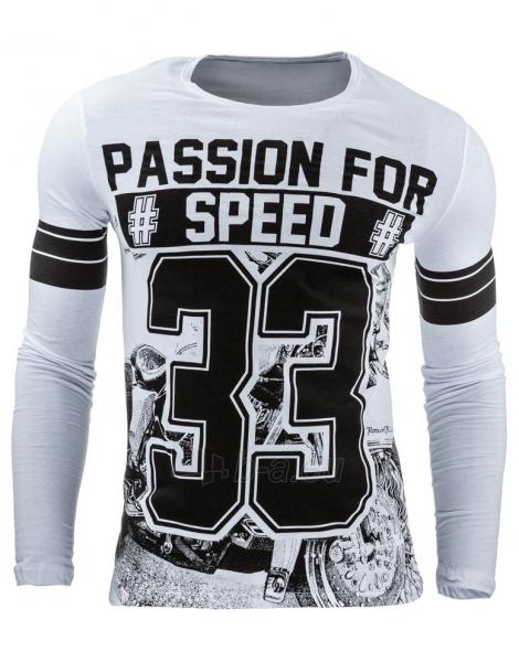 Vyriški marškinėliai ilgomis rankovėmis Speed33 (Balti) Paveikslėlis 1 iš 2 310820031826