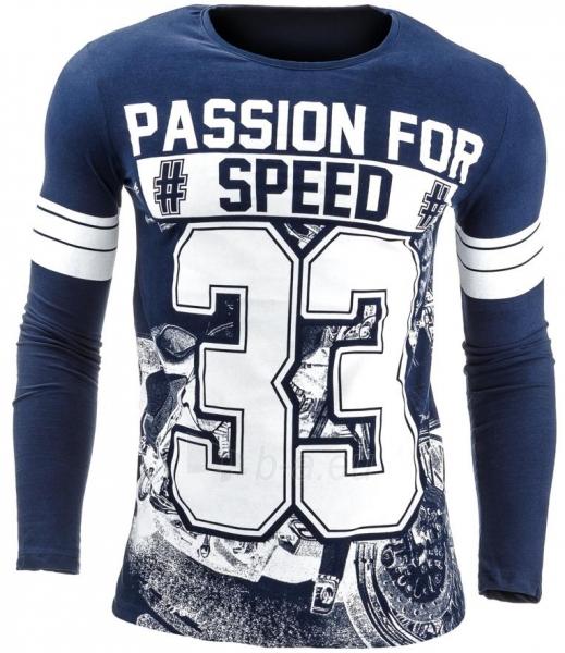 Vyriški marškinėliai ilgomis rankovėmis Speed33 (Tamsiai mėlyni) Paveikslėlis 1 iš 1 310820031834