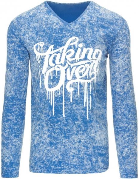Vyriški marškinėliai ilgomis rankovėmis Taking Over (Mėlyni) Paveikslėlis 1 iš 7 310820031476