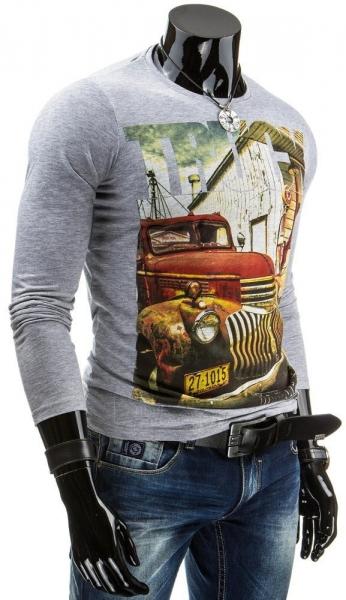 Vyriški marškinėliai ilgomis rankovėmis Truck (Pilki) Paveikslėlis 1 iš 4 310820031338