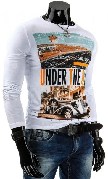 Vyriški marškinėliai ilgomis rankovėmis Under (Balti) Paveikslėlis 1 iš 4 310820031336