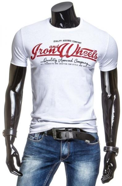 Vyriški marškinėliai IRONWHEELS (Balti) Paveikslėlis 1 iš 4 310820031171