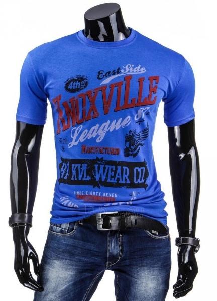 Vyriški marškinėliai KnoxvilLe (Mėlyni) Paveikslėlis 1 iš 4 310820034857