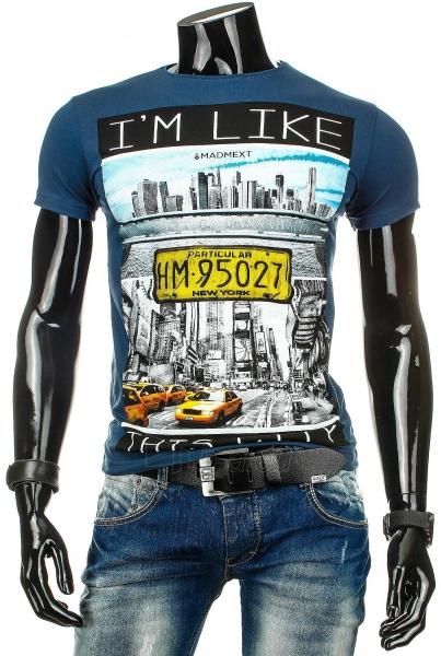 Vyriški marškinėliai Like (Mėlyni) Paveikslėlis 1 iš 4 310820031083