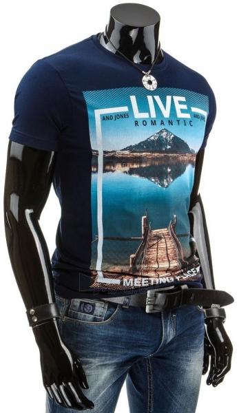 Vyriški marškinėliai LIVE (Tamsiai mėlyni) Paveikslėlis 1 iš 4 310820034833