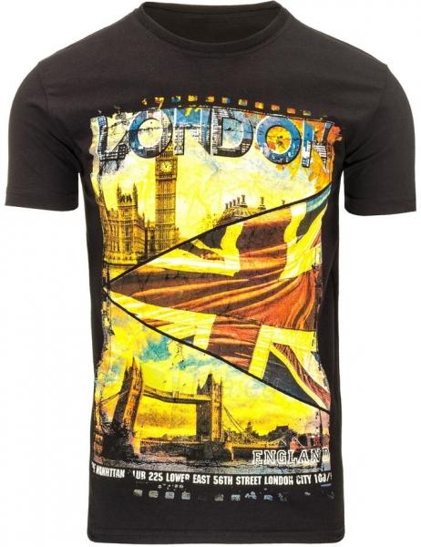Vyriški marškinėliai Londo (Juodi) Paveikslėlis 1 iš 5 310820031146